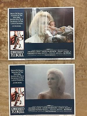 DRESSED TO KILL  2 LOBBY CARDS 1980 Michael Cane Angie Dickinson Brian DePalma