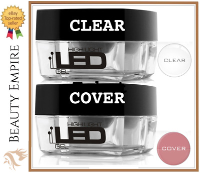 Clear , Cover 4g High Light LED UV Gel Nails Medium Builder File Off Silcare