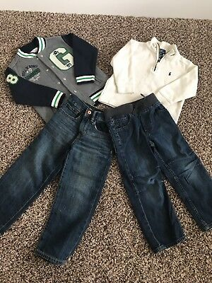 Lot Boys Clothes Size 4, 4t, Gap, Polo, Jacket, Jeans, Sweater