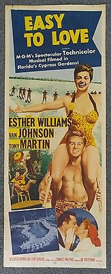 EASY TO LOVE 1953 Original 14x36 Vertical Insert Movie Poster ESTHER WILLIAMS