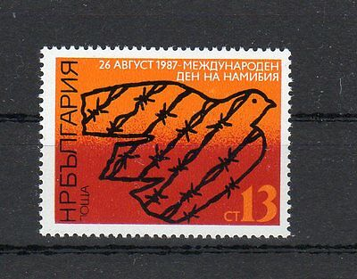 Bulgarien, Michel-Nr. 3580 postfrisch **, Internationaler Namibia-Tag (1987)