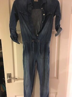 Girls NEXT Denim Jumpsuit Age 9