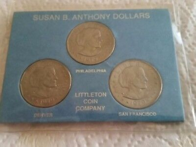 Susan B. Anthony 1979 First Year All Mint P D S set