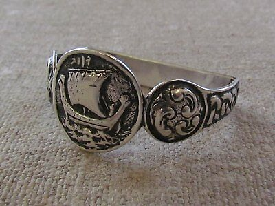 *RARE* IONA  ARTS AND CRAFTS Solid Silver Napkin Ring ALEXANDER RITCHIE INSPIRED