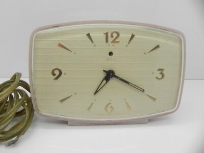 Vintage Smiths Sectric Electric Mantel Clock Made In Great Britain Not Working