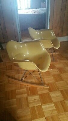 Two vintage eames rocking chairs - mid century mod!