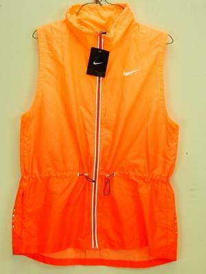 5f2c5abc9 NWT$110 NIKE WOMEN Gradient Running Vest Jacket Daring Red Sunset Glow Sz  XS - L