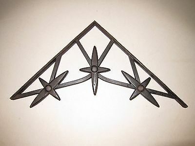 Large Antique Vintage Cast Iron Shelf Bracket 16 1/4 X 18 Inches