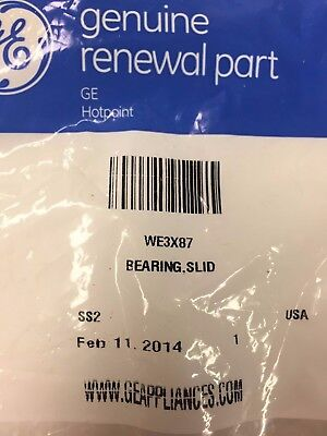 Genuine OEM GE Dryer Bearing Slide WE3X87 OEM PS267877