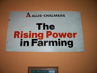 allis chalmers,allis chalmers original advertising sign,24 inches by 131/2inches