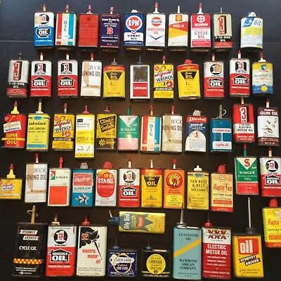 Vintage Oil Cans - Lot of 55