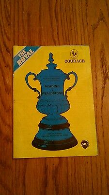 Reading V Wealdstone Fa Cup 1St Round Programme 1985.