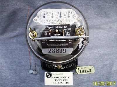 Early Model Westinghouse OB Meter- 10 amp, 115 volts
