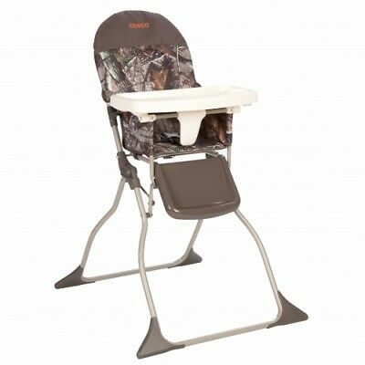 Cosco Baby Toddler High Chair Camo Folding Portable Kid Eat Padded Seat Realtree