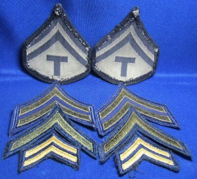 WWII to Korean War Army & USAF Chevron Rank Patch Sets Lot Of 8