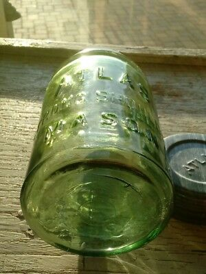 Apple Green Pint ATLAS STRONG SHOULDER Mason Jar with Atlas Zinc Lid