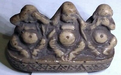 Say No Evil Hear No Evil See No Evil Natural Carved Stone Egyptian Statue