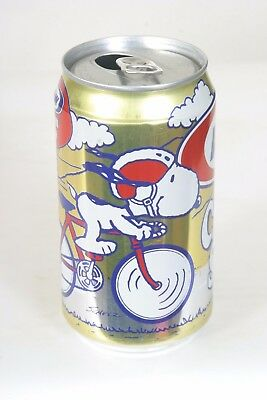 A&W Cream Soda Can - 12oz with Snoopy on a Bike