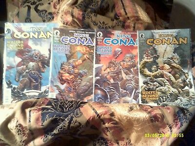 "King Conan , ""wolves Beyond The Border "" , 1,2,3,4 , Vf/nm"