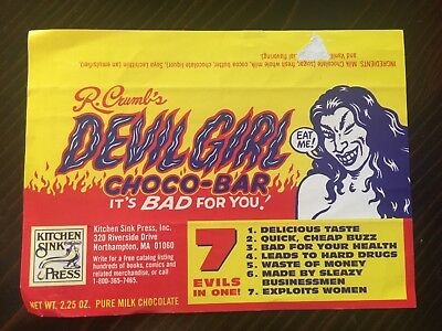 R Crumb's Devil Girl Chooco Bar Wrapper