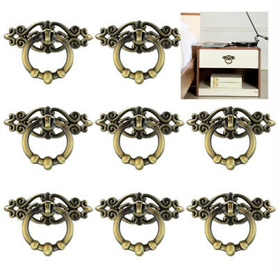 Cabinet Knob Cupboard Drawer Pull Handle 10 Pcs Furniture Dresser Ring Pulls