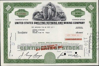 United States Smelting Refining And Mining Co, 1973