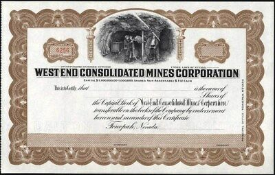 West End Consolidated Mines Corporation, Tonopah, Nevada