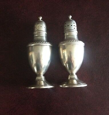 Antique STERLING SILVER  Salt n Pepper  Shakers 175 grams Excellent Condition
