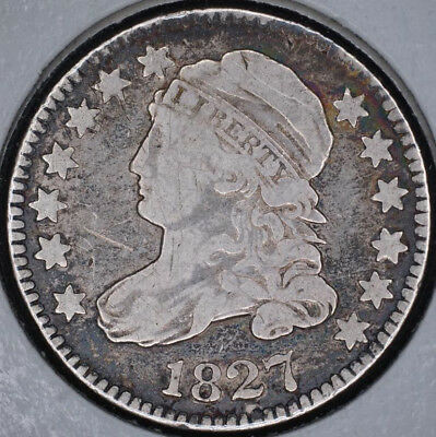 1827 10c Capped bust dime, nice VF