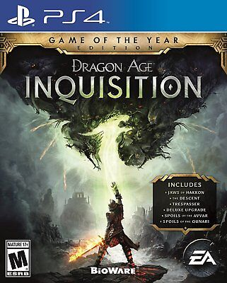 Dragon Age Inquisition Game of the Year Edition PS4 Playstation 4 GOTY New