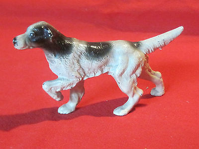 Small cast iron English Setter dog hunting dog figurine