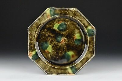 18th Century Whieldon Pottery Octagon Shaped Plate w/ Multicolored Glaze