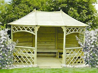 gartenlaube holz pavillon mit holzdach 3 5mx2 6m au en 3 95x3m m glich schindel eur. Black Bedroom Furniture Sets. Home Design Ideas