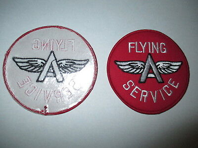 Flying A Patch- Automotive Service, Gasoline, Motor Oil, Hot Rod, Drag Race