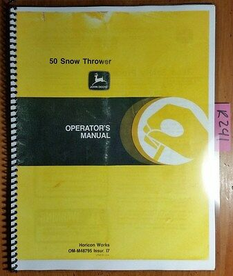 John Deere 50 Snow Thrower S/N 300,001- for 400 Tractor Owner Operator Manual 77