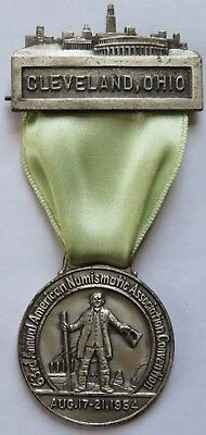 1954 ANA Convention Medal Ribbon, Cleveland Ohio, American Numismatic (191951C)