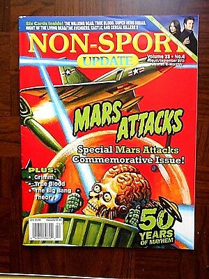 aug/sep/2012 Non-Sport Update Magazine (Mars Attacks Cover) Vol.23 #4 VF+
