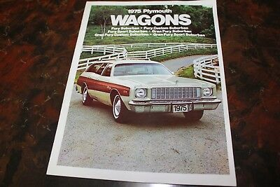 1975 Plymouth Wagons Advertising Booklet