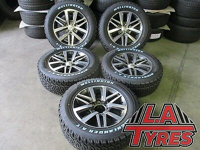 5x Toyota Hilux SR5 Wheels NEW Tyres 18 Inch Genuine Package Wellington AT Tyres