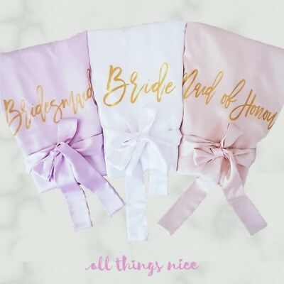 Personalised Satin Robes, Bridesmaid Bridal Party Robes and Gifts