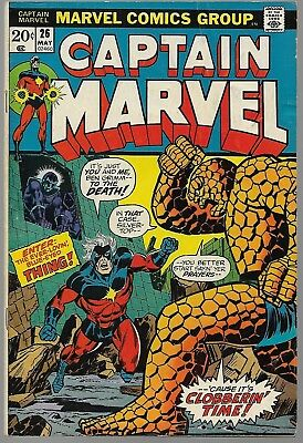 Captain Marvel #26 Early Thanos first cover Marvel 1973 Good (G) Bronze