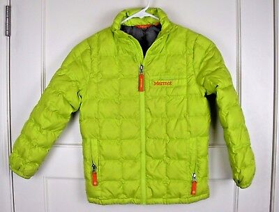MARMOT Bright Green Down Fill Puffer Jacket Youth Size: S