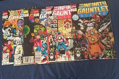 Infinity Gauntlet #1-6 complete series THANOS Starlin AVENGERS Marvel 1991 VF-NM