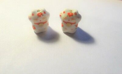Porcelain Animal Beads, Fancy Cats, Approx. 15mmx15mm,  #301
