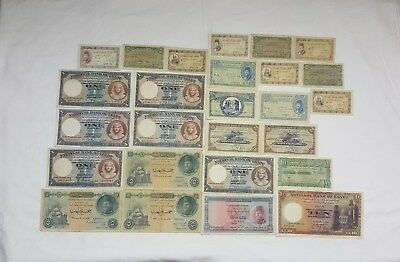 Egyptian Currency notes. 270 Collectible Notes.