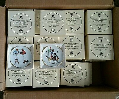 68 complete set Norman rockwell four seasons mini plates