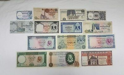Egyptian Currency notes. 14 Very Rare Collectible Notes. ENL. # 001