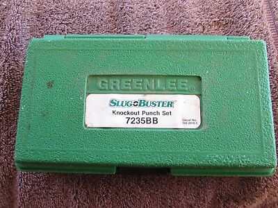 Used Greenlee Slug Buster Knockout Punch Set #7235Bb