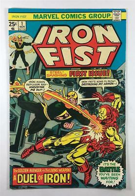 Marvel Iron Fist #1 in 6.5 Fine+ Condition - Battle with Iron Man