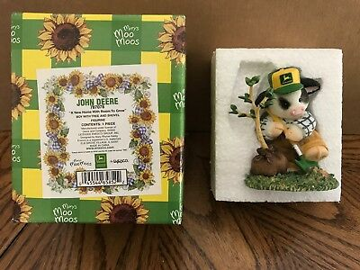 "Enesco Mary's Moo Moos John Deere ""A New Home With Room To Grow"" Boy/Tree 787078"